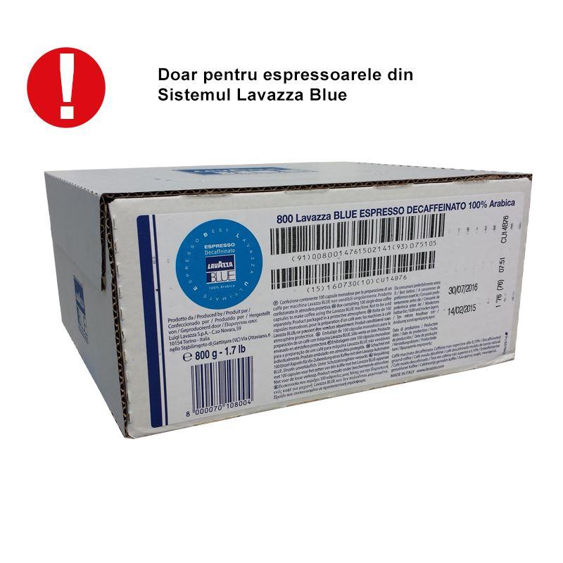 Capsule Lavazza Blue Decaffeinato cutie 100 buc