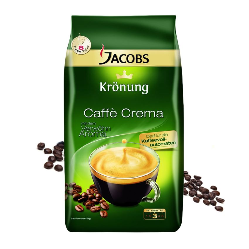 Jacobs Kronung Caffe Crema cafea boabe 1 kg
