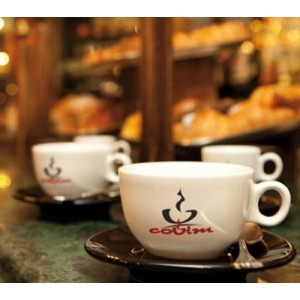 Covim cesti de cappuccino si farfurii - 12 buc