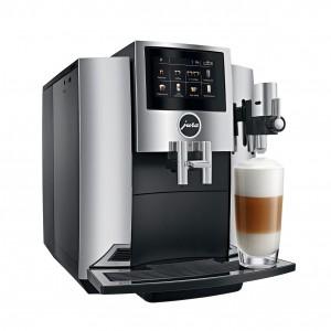 Espressor Jura S8 Professional Aroma Chrom, 1.9 l, 280g, rasnita AromaG3, 15 specialitati One Touch, Touchscreen+ cadou cafea