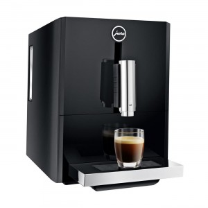 Jura A1 Black, alimentare cafea boabe, 1.1 l, 125g, rasnita AromaG3, Touch Panel+ cafea cadou