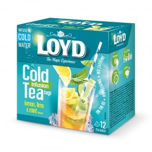Loyd Cold Infusion Tea Lemon, lime, mint 12 buc