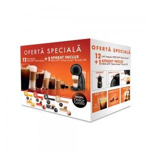 Pachet 12 cutii capsule Nescafe Dolce Gusto si espressor Piccolo XS cadou