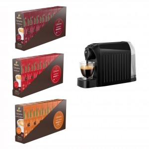 Pachet espressor Tchibo Cafissimo Easy Black cadou 240 capsule
