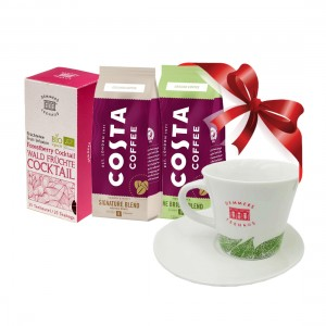 Pachet promo ceai Demmers cafea Costa si cana cadou