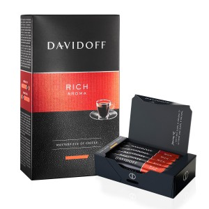 Pachet promo Davidoff Rich Aroma si cadou cafea instant