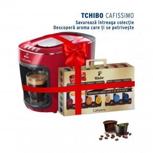 Pachet espressor Cafissimo Mini Salsa Red si 70 capsule cadou
