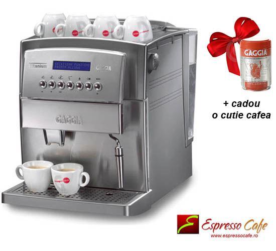 Gaggia Titanium cadou o cutie cafea Gaggia