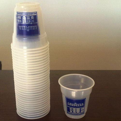 Pahare plastic transparente Lavazza set 100 buc